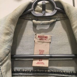 Mossimo Supply Co. Jackets & Coats - Mossimo supply co faded denim cropped jacket